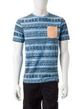 Ocean Current Aztec Print T-Shirt