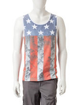 Ocean Current  Faded Aerial Flag Tank