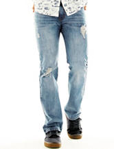 Rustic Blue Slim Destructed Denim Jeans