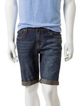 Rustic Blue Dark Indigo Wash Denim Shorts