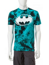 Batman Turquoise Cloud Blotch-Dye T-shirt