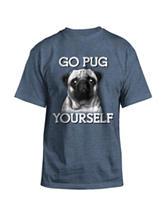 Hybrid Indigo Go Pug T-shirt