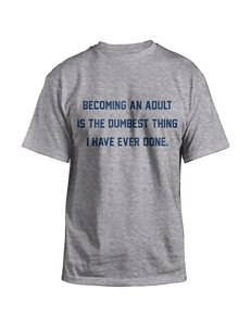 Hybrid Heather Gray Becoming An Adult T-shirt