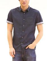 Signature Studio Dot Print Denim Shirt