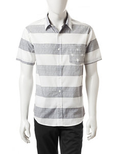 Ocean Current White Casual Button Down Shirts