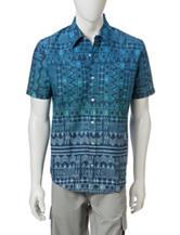 Ocean Current Multicolor Aztec Print Woven Shirt