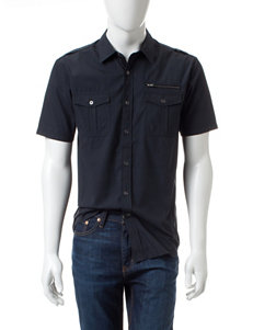 Modern Culture Black Casual Button Down Shirts