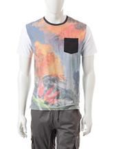 Ocean Current Tropical Graphic Design Sublimation T-shirt