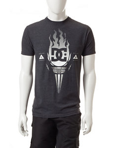 DC Shoes Charcoal Grey Torch Logo T-shirt