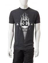 DC Shoes Charcoal Grey Torch Logo T-shirt