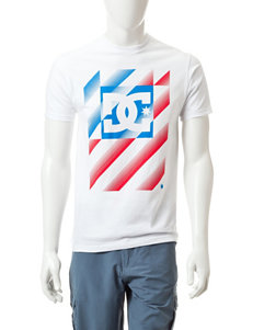 DC Shoes Red, White & Blue United Logo T-shirt