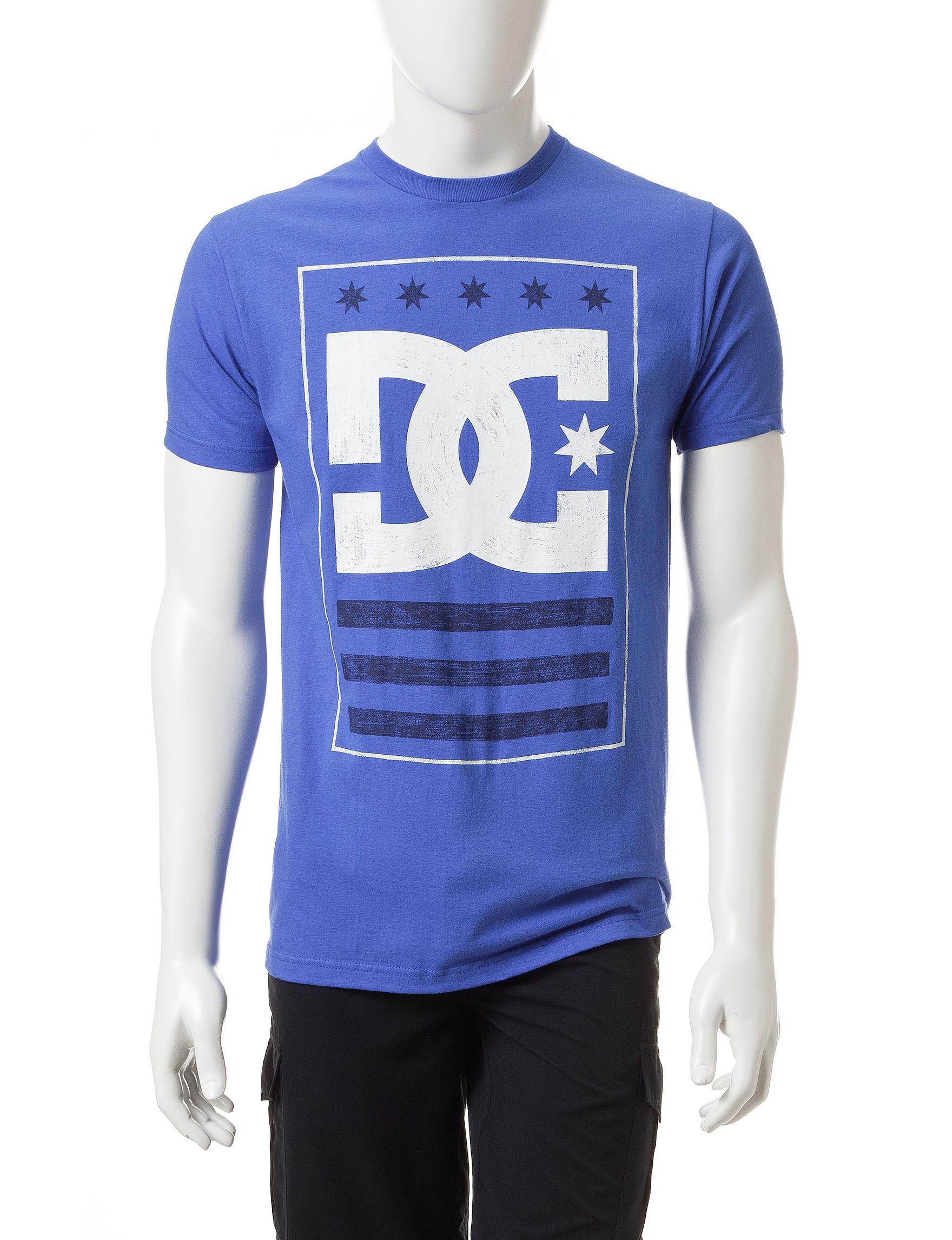 DC Shoes Blue Tees & Tanks