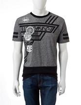 Southpole Grey & Black Color Block T-shirt