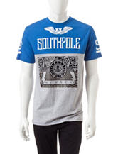Southpole Foil Print Color Block T-shirt