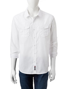 Southpole White Casual Button Down Shirts