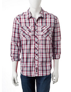 Southpole Burgundy Casual Button Down Shirts
