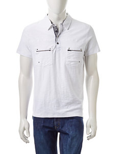 Signature Studio White Casual Button Down Shirts