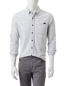 Marc Ecko White Casual Button Down Shirts