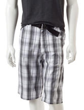 Southpole Plaid Print Shorts