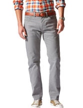 Dockers® Grey Straight Fit Stretch Pants