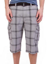 Unionbay® Bering Plaid Print Messenger Cargo Shorts