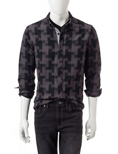 Marc Ecko Black Casual Button Down Shirts