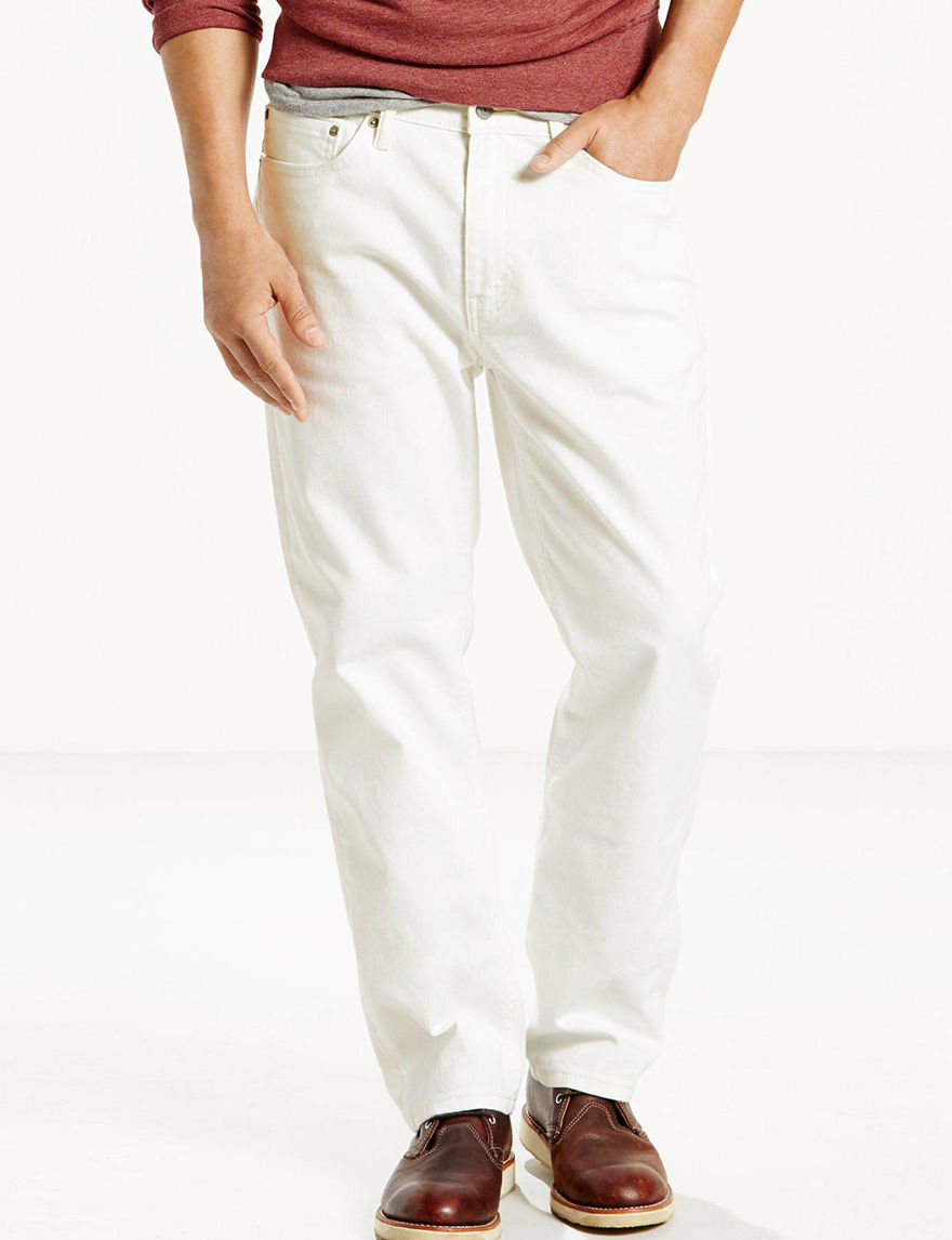 Levi's White Bull Denim Tapered