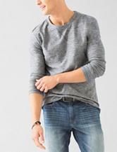 Signature Studio Scoop Hem Textured Shirt