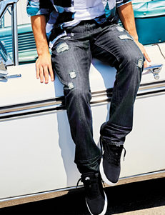 Rustic Blue Rip & Repair Denim Jeans