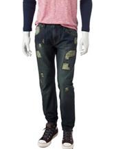 Rustic Blue Rip & Repair Denim Jeans