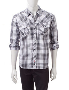 Southpole Everthing Plaid Woven Shirt