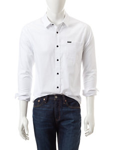 Zoo York White Casual Button Down Shirts
