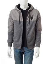 Zoo York Grey Sherpa Lined Zip Hoodie