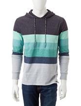 Ocean Current Multicolor Striped Knit Hoodie