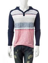 Rustic Blue Striped Print T-shirt