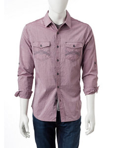 Rustic Blue Wine Casual Button Down Shirts