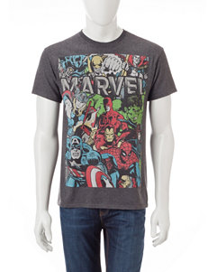 Marvel Character Vintage Wash Graphic T-shirt