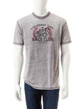 Rustic Blue Checkered Flag Race Club T-shirt