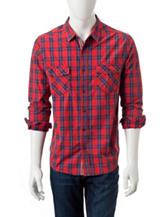 Plugg Washed Down Plaid Print Shirt