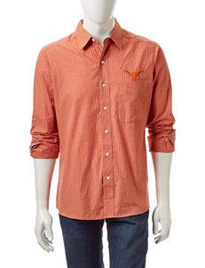 NCAA University of Texas Woven Plaid Shirt