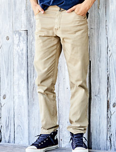 Rustic Blue Khaki Slim Straight