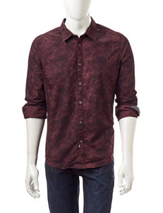 Calvin Klein Red Casual Button Down Shirts