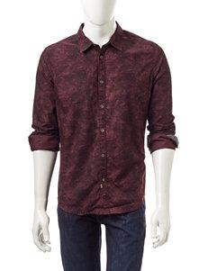 Calvin Klein Botanical Camo Woven Shirt