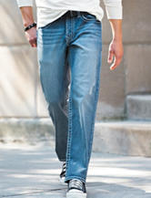 Rustic Blue Slim Straight Jeans