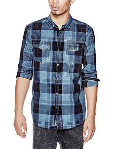 G by Guess Xylen Plaid Print Woven Shirt