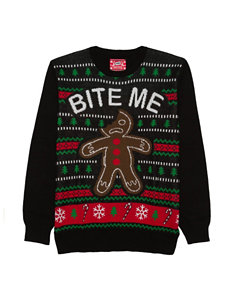 Bite Me Gingerbread Man Ugly Christmas Sweater