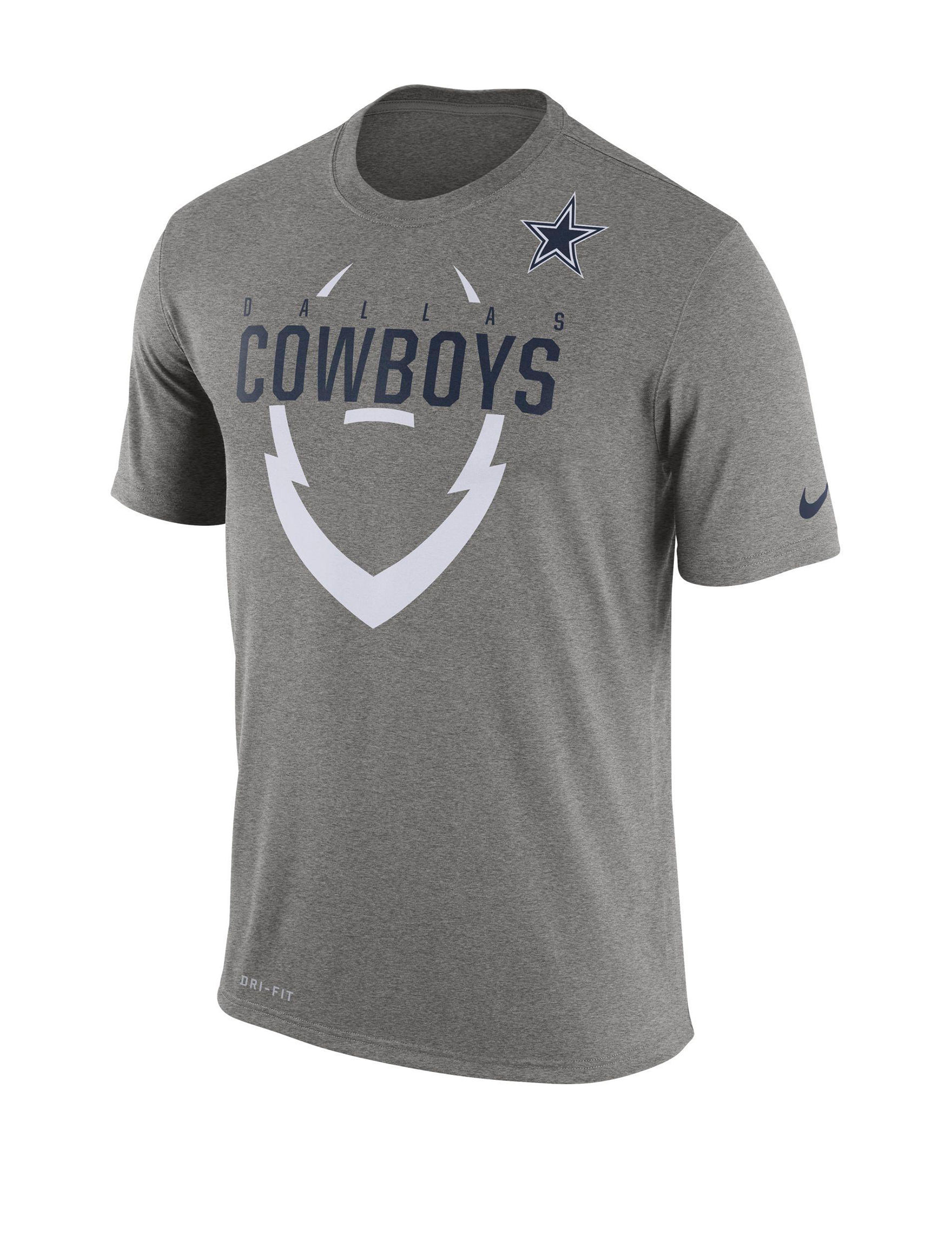 NFL Grey Heather Tees & Tanks NFL