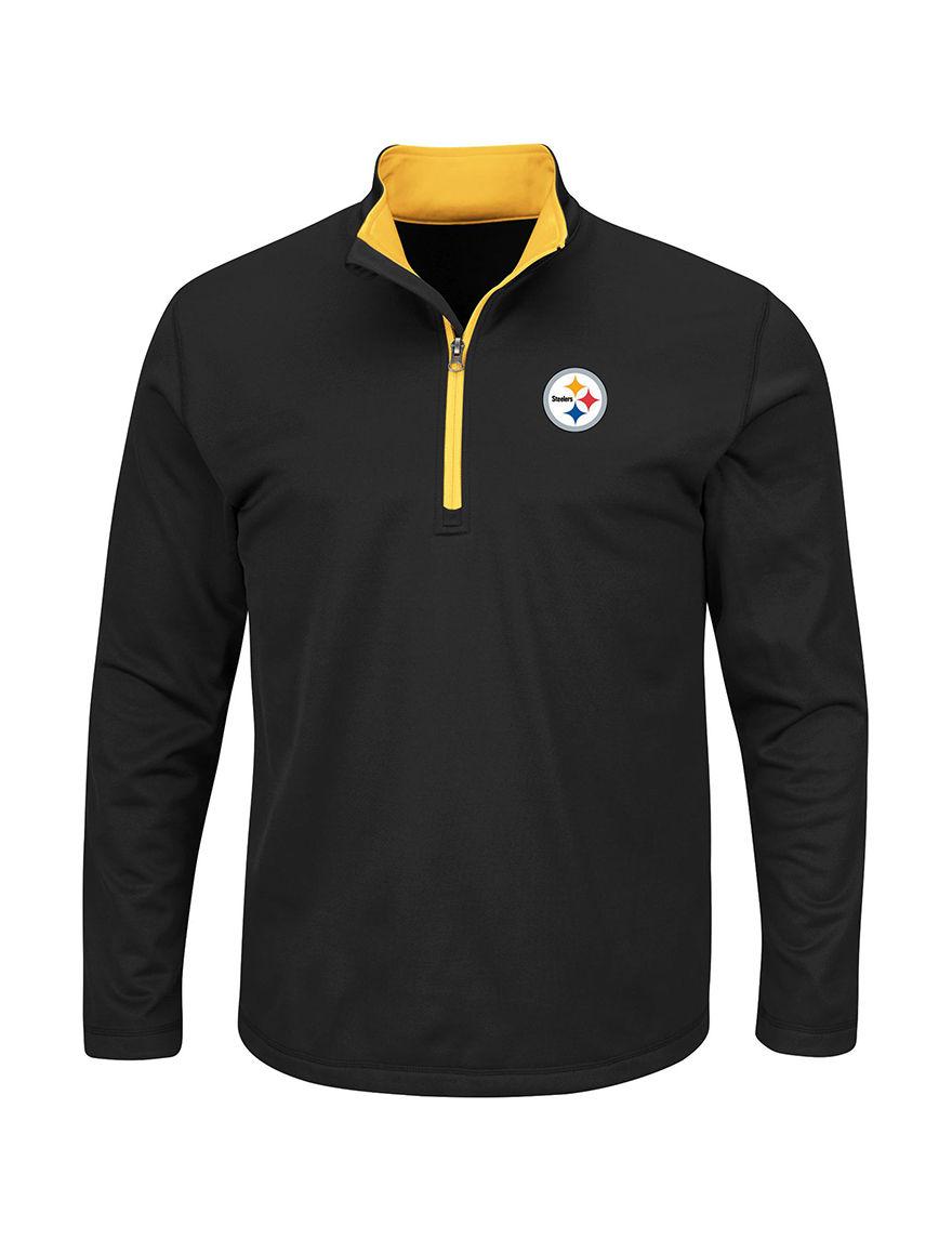 NFL Black / Gold Sweaters Tees & Tanks NFL
