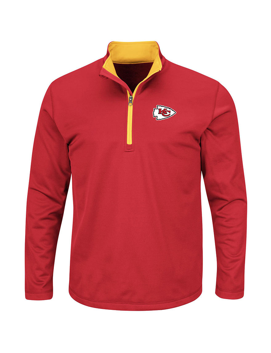 NFL Red / Gold Sweaters Tees & Tanks NFL
