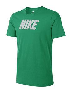 Nike Green / White Tees & Tanks